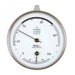 Synthetic hygrometer with thermometer
