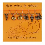 Wine charm - Give Thanks