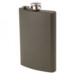 "Flask ""Oenophilia"" Army green 8 oz."