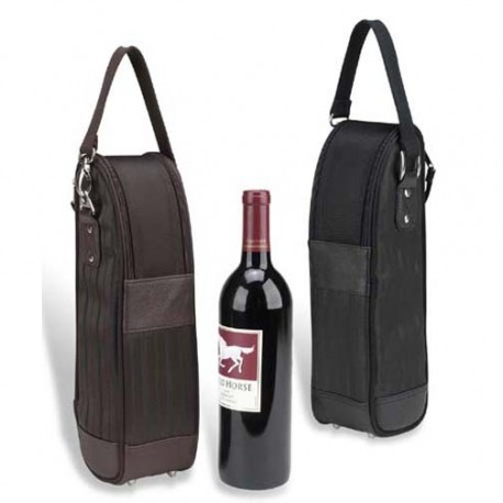Bag 1 bottle isolated, faux leather