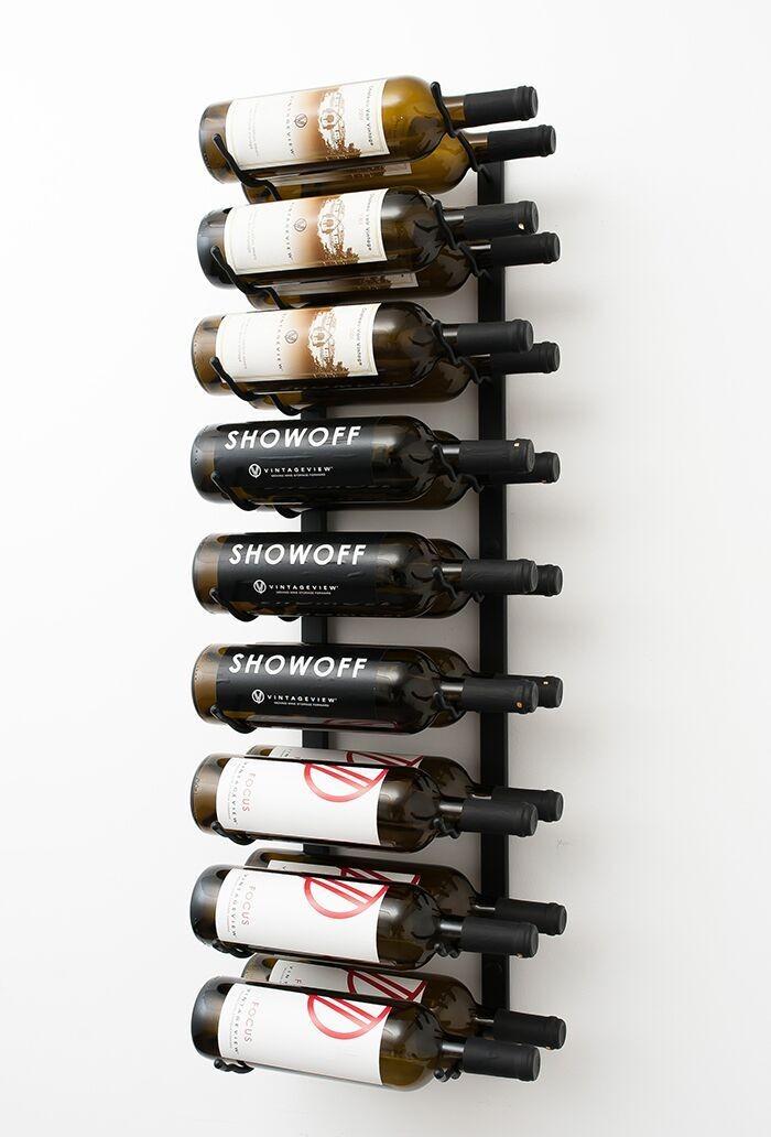Étagère à vin sur rôles Glashalter Blanc weinhalter bouteilles étagère bouteilles Support