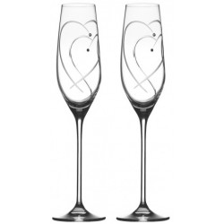 Two Hearts Entwined - 2 Champagne Flute