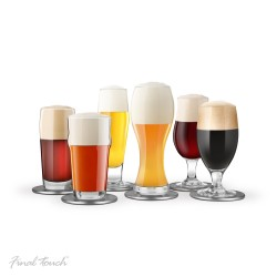 Set of 6 glasses beer tasting