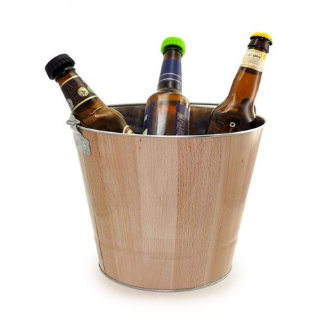 Iron Ice Bucket Wood Effect