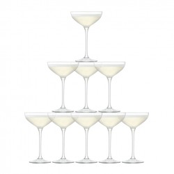 Tower Champagne Set clear 10 Glass