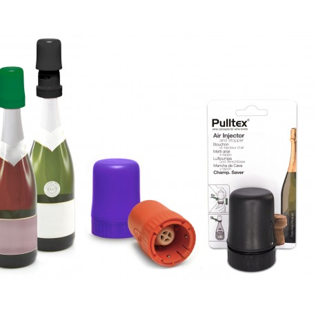 Cap and Pump for Sparkling Wine