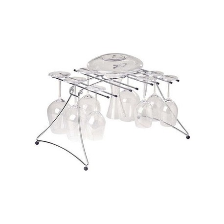 16 glasses and decanter drying rack