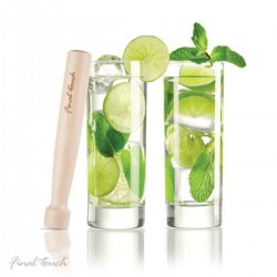 Set of 2 Mojitos Glasses and Wooden Pestle