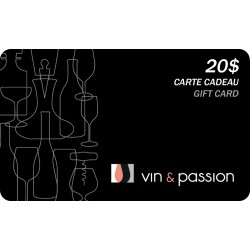20$ Gift card Vin et Passion