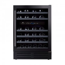 Wine Cell'R Black Pearl Wine Cellar 46 Bottles 2 zones WC46FGDZ5 Wine & Passion