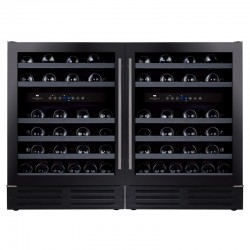 Wine Cell'R Black Pearl Wine Cellar 92 Bottles 2 double zones WC46FGDZ5 Wine & Passion