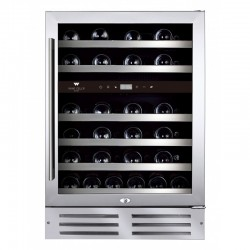 Wine Cell'R Wine Cell'R Diamond 46 Bottles 2 zones WC46SSTDZ5 Wine & Passion