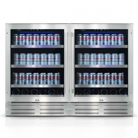 Wine Cell'R Diamond Wine Cellar and Beverage Center 304 Cans 2 zones WC54SSTBC5 Wine & Passion