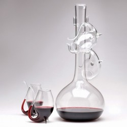 "4 Port Sipper & Decanter ""Oenophilia"""