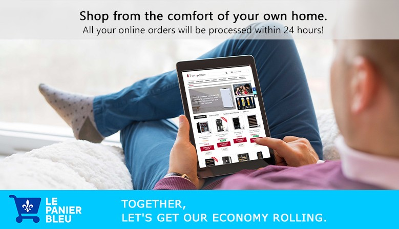Shop from the comfort of your own home.
